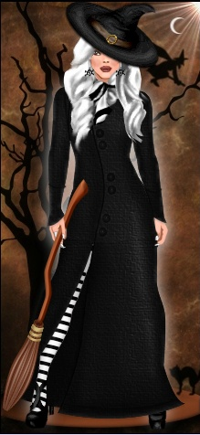 This spooky witch by Diva Chix member, fashionchallenged, is super cute! With Halloween winding down at DC, this is a great look to celebrate these last couple days!