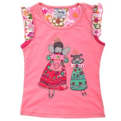 girls $13 fashion Light Pink Full Colour Tee With Patterned Sleeve And Fairy Print-AJ57039-Light-Pink $13.00 on Ozsale.com.au
