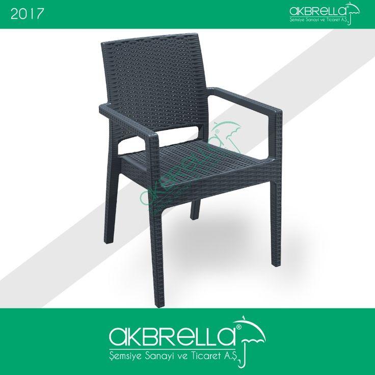 Rattan örgü deseni verilmiş enjeksiyon sandalye ürünümüz, hem iç hem de dış mekan için kullanılabilecek ekonomik bir üründür. #rattankoltuk #rattanmobilya #akbrella
