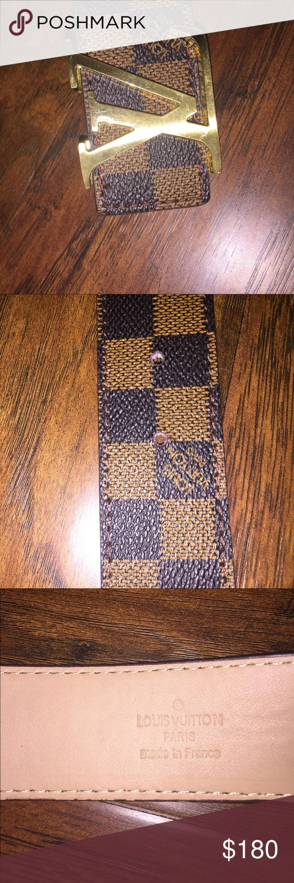 Louis Vuitton belt 100% authentic made in France. This is a real Louis Vuitton with no scratches, stains, or scuffs it's in perfect condition. Louis Vuitton Accessories Belts