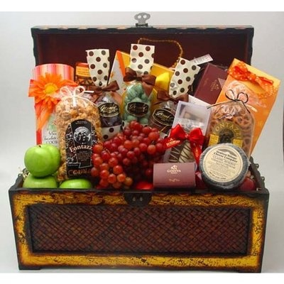 10 best satsuma christmas gifts images on pinterest chocolates los angeles gift basket treasure chest of gourmet goodies negle Gallery