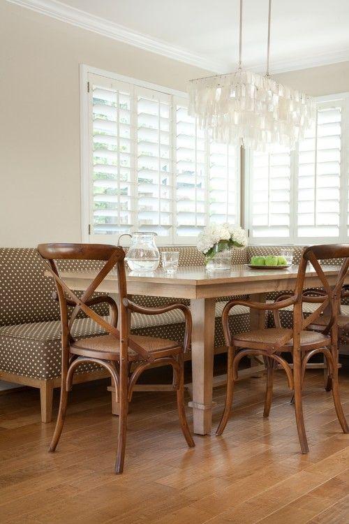 {via Jessica Risko Smith Interior Design}//capiz shell chandelier?//Ballard corner unit