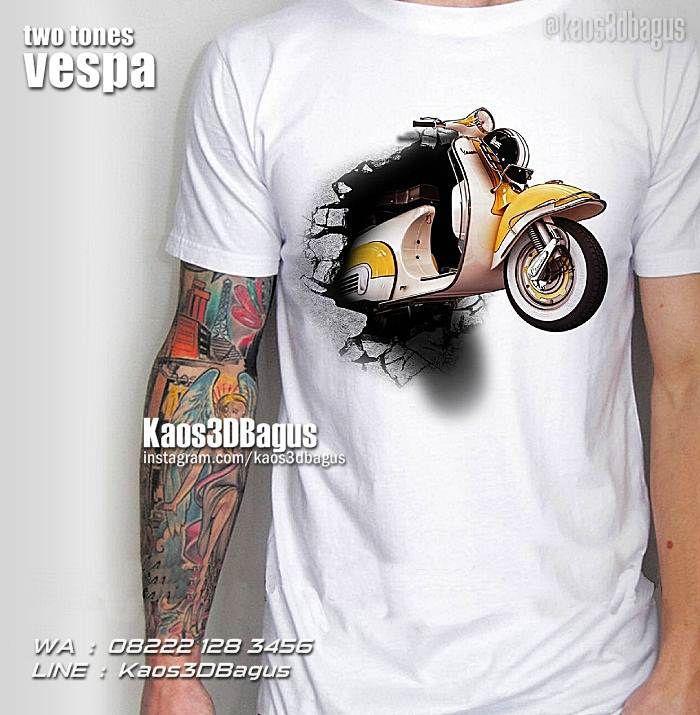 Kaos VESPA, Kaos MOTOR VESPA, Kaos3D, Vespa Club Indonesia, Scooter Boy, Retro Vespa, Custom Vespa, Kaos Klub Motor, Motorcycle, Vespa Mania, Two Tones Vespa, Modifikasi Vespa, https://kaos3dbagus.wordpress.com, WA : 08222 128 3456, LINE : Kaos3DBagus