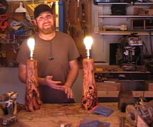 How to make Log Lamps  great video