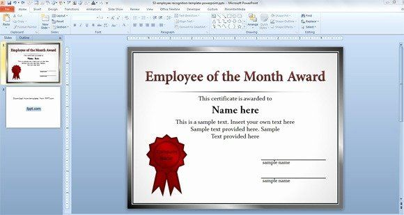 Award Certificate Template Powerpoint Fresh Best Free Employee Evaluation Templa In 2020 Certificate Templates Employee Recognition Certificate Of Recognition Template