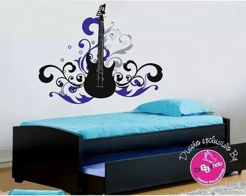 Gitarra electrica en vinilo adhesivo