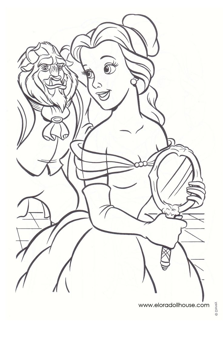 Coloring page x marks the spot - Beauty And The Beast Coloring Page