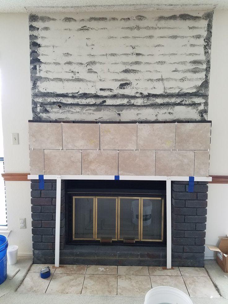 Jana's Place: Home Improvements ~ Fireplace Tile Installation