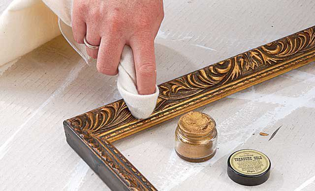 Spiegel-Rahmen vergolden