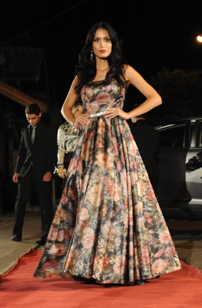 Marianela Montaño con vestido de MAGNOLIA