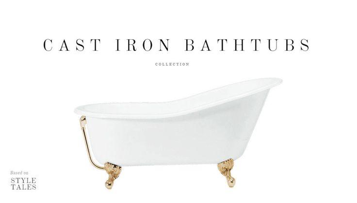 Bañeras de hierro fundido by Gentry Home. #bañeras #bañerasclasicas
