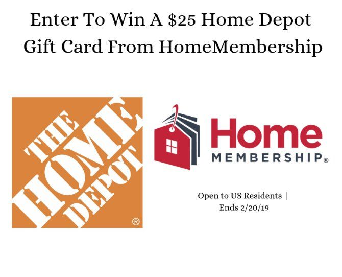 Win A 25 00 Home Depot Gift Card Everyone Can Use Some Extra Cash For Home Depot For Fixing Up Your House Home Depot Cards Cash From Home