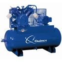 Quincy 15-HP 120-Gallon Two-Stage Air Compressor (460V 3-Phase). The Quincy 15-HP unit is the next step up from it's smaller better product 10-HP sibling. It's well known in the Air Compressor world that Quincy makes one of the top Air Compressors money can buy.