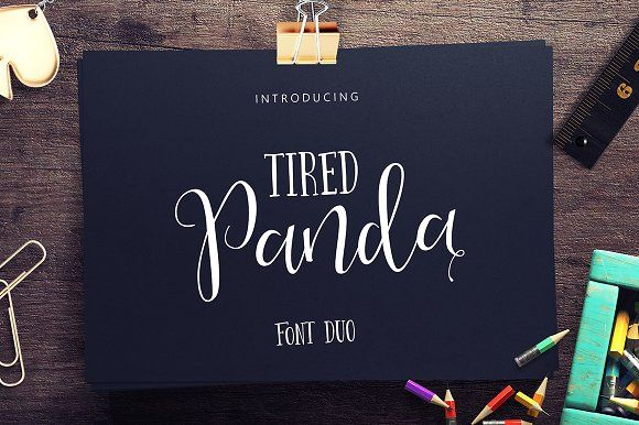 Tired Panda Script (60% Off) by vero. on @creativemarket