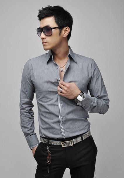 New men's shirts, hot sale,long sleeves, fashion design dress, blue pink white grey