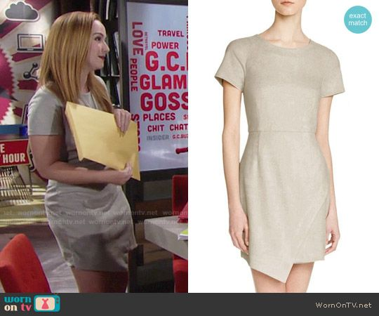 Mariah's short sleeve suede dress on The Young and the Restless.  Outfit Details: https://wornontv.net/76670/ #TheYoungandtheRestless