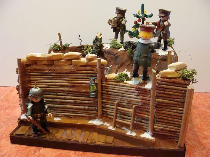 "Playmobil, Noël 1914 dans les tranchées, ""joyeux Noël"""