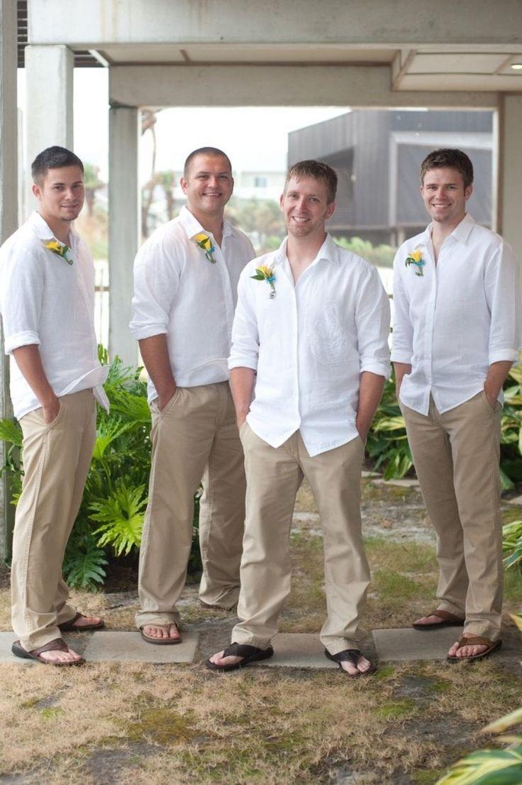 Beach wedding men attire