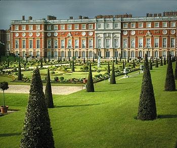Hampton Court Palace -- one of many amazing gardens.