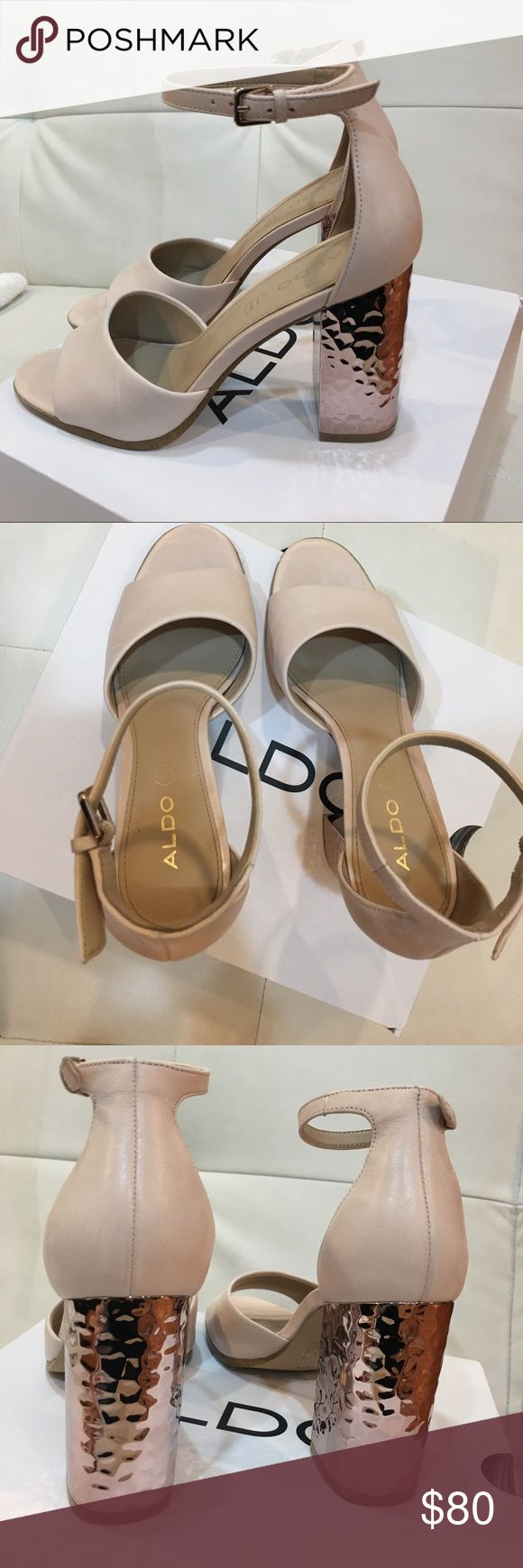 Aldo Heels! Brand new Aldo high heels sandals . Worn once to a wedding 2017 Aldo summer collection!!!!!! Aldo Shoes Heels