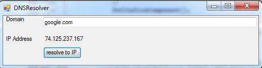 C#範例:將Domain Name變成IP Address
