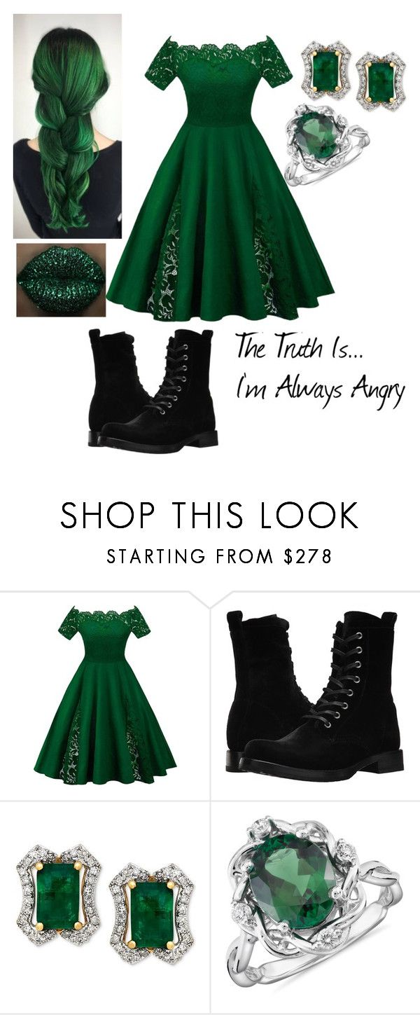 """Female!Hulk Cosplay"" by aimee-may-winchester-221b ❤ liked on Polyvore featuring Frye and Blue Nile"