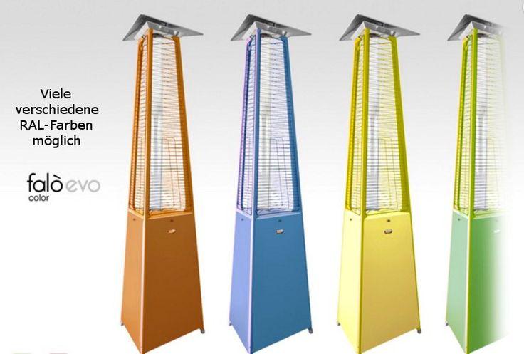 Neuer Pyramiden Heizstrahler aus Italien. In vielen RAL Farben erhältlich. http://www.heizstrahler-shop24.de/falo-evo-gasheizstrahler