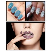 12 Bottles Set Caviare Shape Nails Art Plastic Colorful Beads Tips Makeup Decor