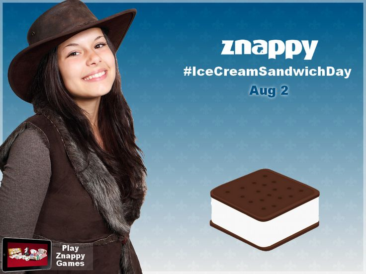 🍨 Today is the Ice Cream Sandwich Day! Leave a comment bellow and say what is your favorite ice cream. Znappy Team likes the one with chocolate! 🍨  #ZnappyIce #IceCream #IceCreamSandwichDay #CoolDay #ZnappyGames
