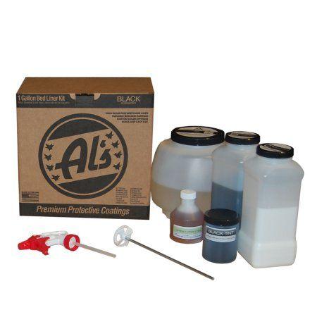 Al's Liner One GallonTruck Bed Liner Kit-Black, Black