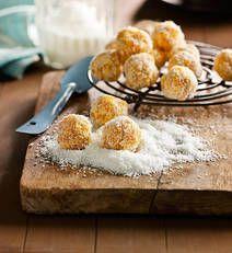Apricot-coconut balls recipe - Apricot-coconut balls - Yahoo!7 Food