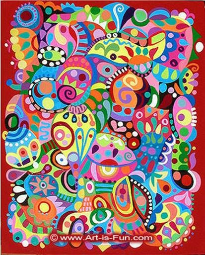 Как научиться рисовать абстрактный рисунок. Обсуждение на LiveInternet - Российский Сервис Онлайн-Дневников