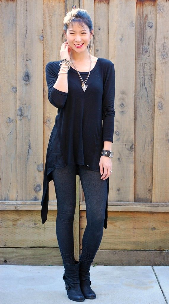 All Black outfit....I like the boots but the see through leggings are a bit much! | My Style ...