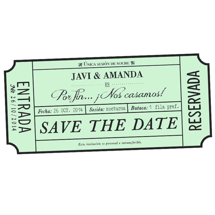 Save the date Barcelona . Invitacions casament . Invitaciones de boda