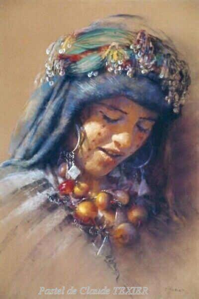 Visage du sud- Pastel portraits 62 x 42 cm de Claude Texier