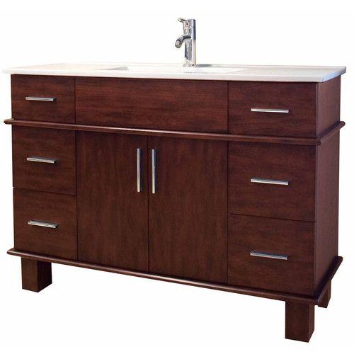 "Found it at Wayfair - 48"" Single Transitional Bathroom Vanity Set"
