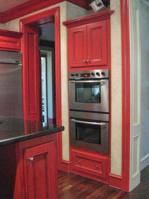 4cceef909514a6c6641c223c2fde550f Paint Kitchen Cabinets Design Ideas Red on red kitchen painting ideas, red kitchen paint color, red kitchen island,