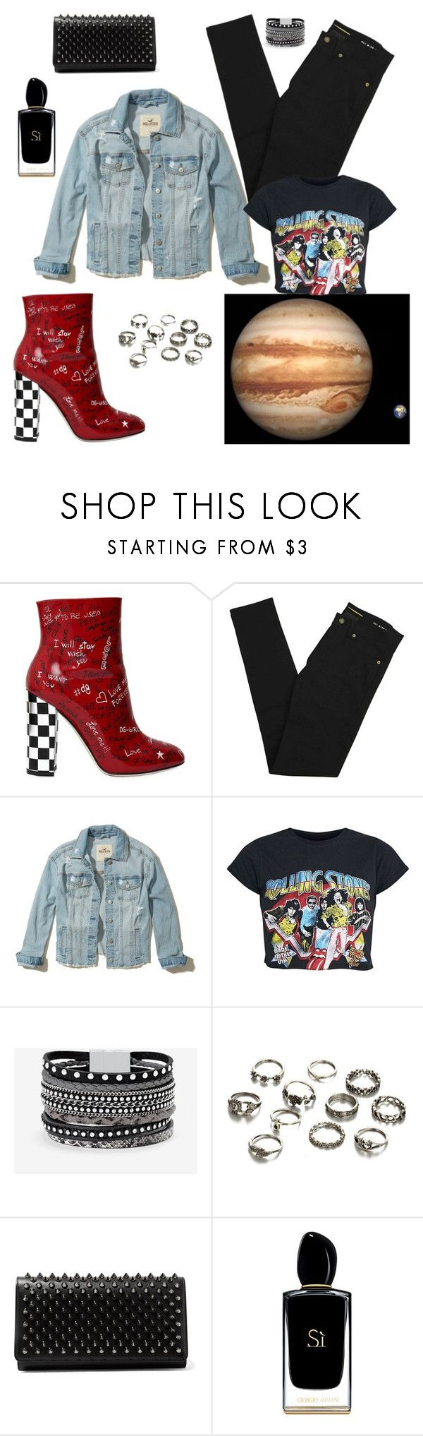 """Jupiter Rising..."" by nancybcrtn ❤ liked on Polyvore featuring Dolce&Gabbana, Yves Saint Laurent, Hollister Co., White House Black Market, Christian Louboutin and Giorgio Armani"