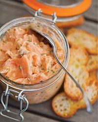 I am so glad I learned to appreciate smoked salmon!  Inspired by Thomas Keller.  This looks amazing.  Salmon Rillettes Recipe from Food & Wine