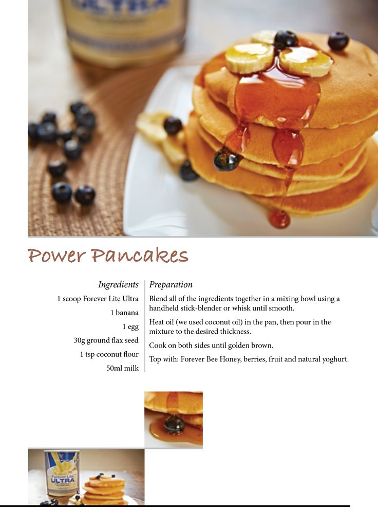 Power Pancakes with Forever Lite Ultra. Available at https://www.foreverliving.com/retail/entry/Shop.do?store=GBR&language=en&distribID=440500028502