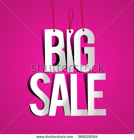 Big sale promo department store. Big Sale Paper Folding Design. Vector illustration. - stock vector