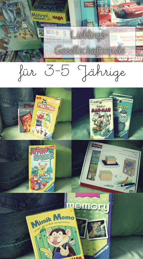 Gesellschaftsspiele für Kinder ab 3-5 Jahre. Spieleempfehlung