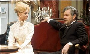 Color promotional shot of Irene and Young Jolyon-the forsyte Saga 1967