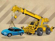 Free Online Racing Games, Help move cars around the junkyard by using your massive crane!  Drive your truck to the right location and then use the crane to pick up each car and drop it to be crushed!  See if you can get through 8 crowded lots!, #parking #crane #construction #truck  # game sucks