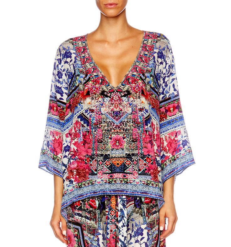 Camilla - From Kali With Love V-Neck Oversized Blouse