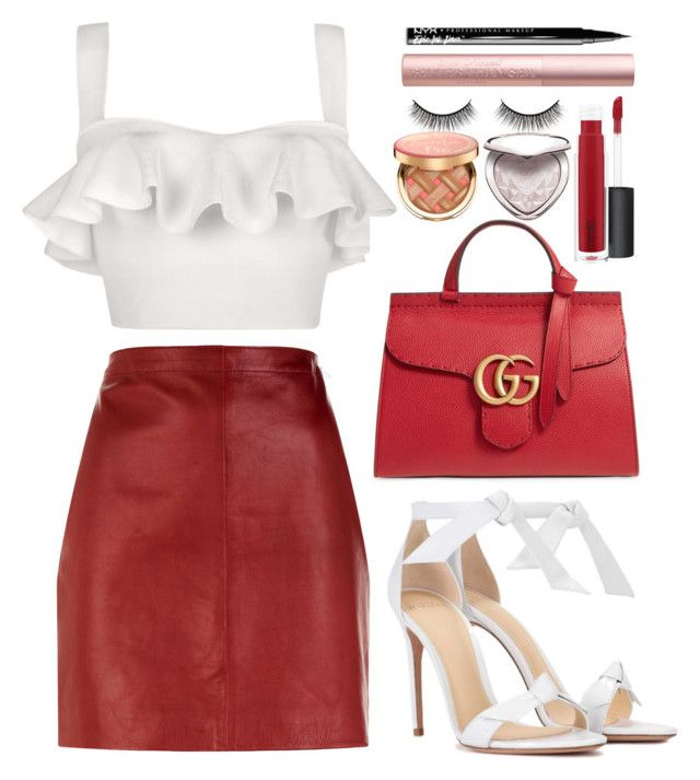"""""""Operate"""" by sinfulcasifer ❤ liked on Polyvore featuring Lolitta, Sandro, Alexandre Birman, Gucci, NYX, John Lewis, Battington and Too Faced Cosmetics"""