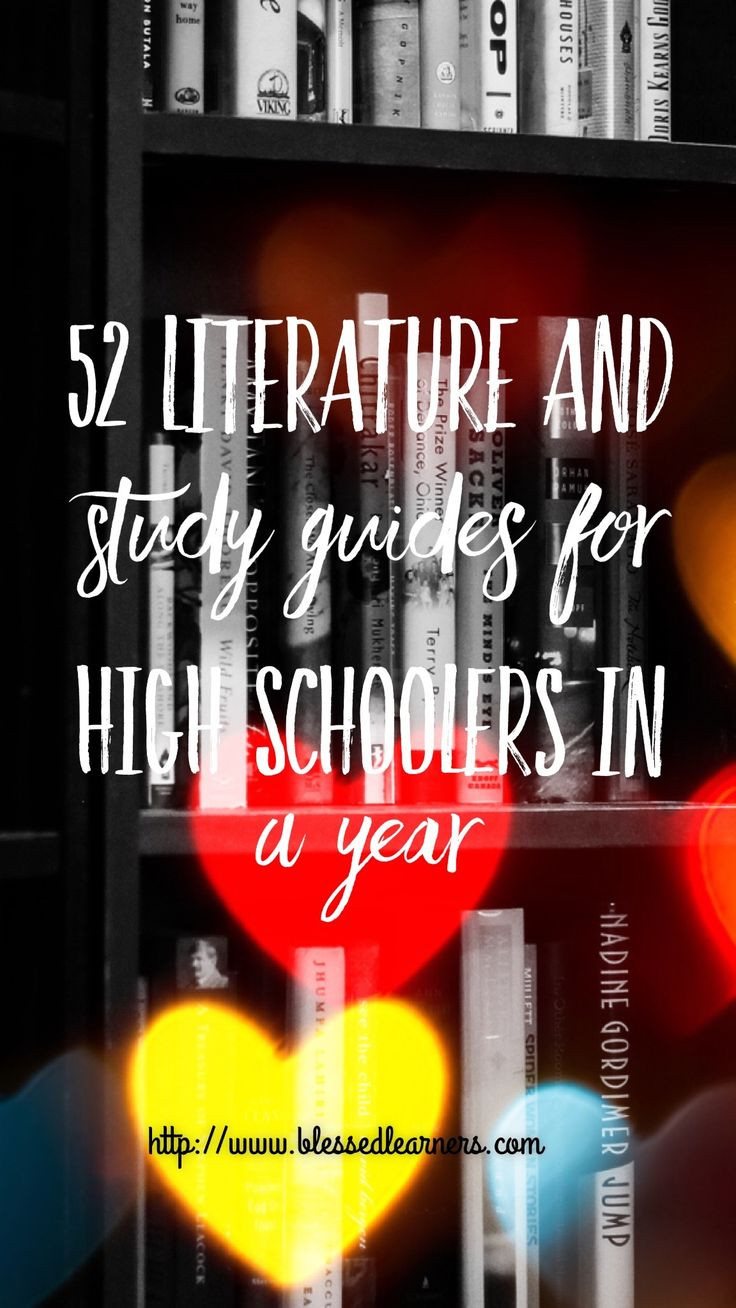 Literature books for high schoolers need deeper thinking to comprehend. The literature study guides will help you and children to enjoy the books.