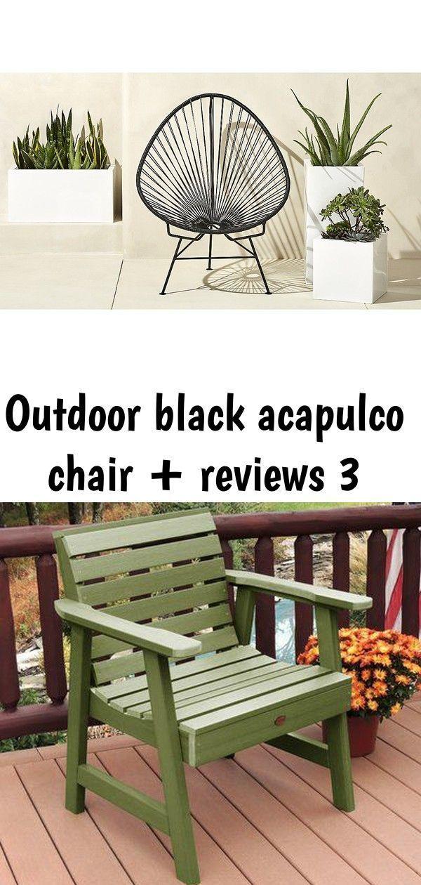 Outdoor Black Acapulco Chair + Reviews 3 #smallcourtyardgardens AcapulcoLoungeChairBlack…   Courtyard Gardens Design, Small Courtyard Gardens, Swimming Pool Designs