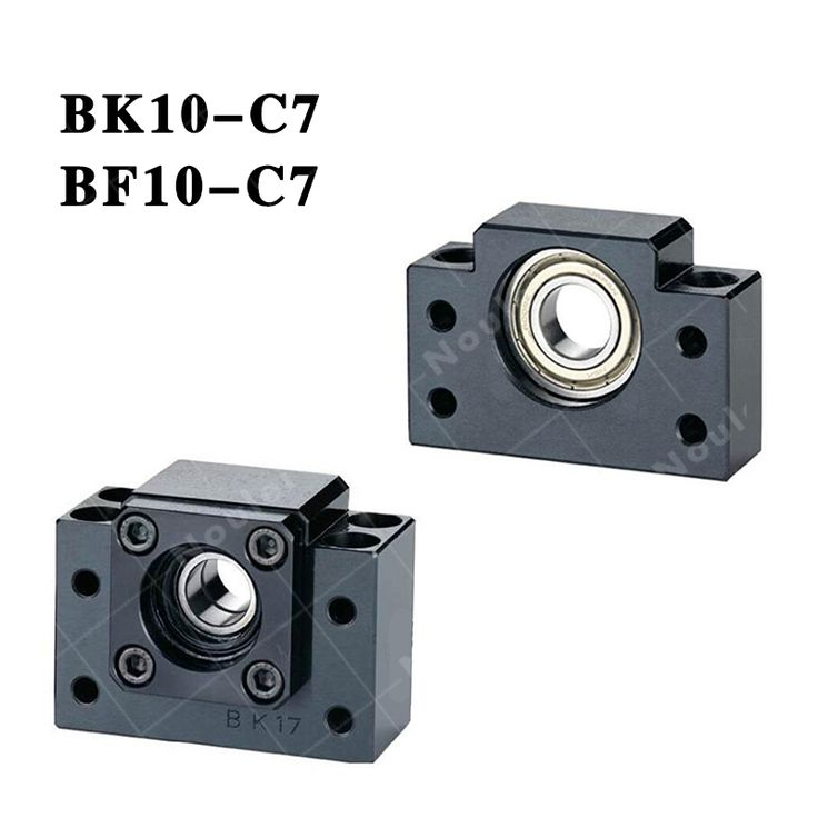 TMT Ball screw CNC Support Unit  Fixed-side + supported-side ( BK10 + BF10 ) BK10-C7 / BF10 Black