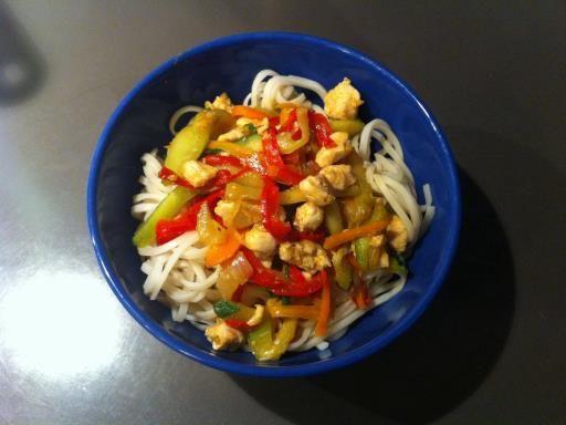 Recette de Nouilles chinoises aux légumes et aux épices